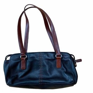 FOSSIL black and brown Coronada leather handbag